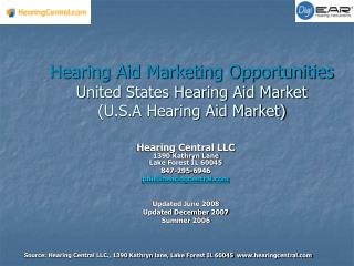 Portable amplifier Showcasing Opportunities United States Listening device Market (U.S.A Portable hearing assistant Busi