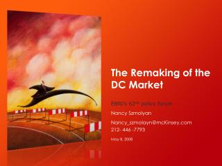 The Redoing of the DC Market