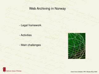 Web Chronicling in Norway