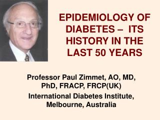 The study of disease transmission OF DIABETES