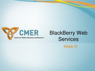 BlackBerry Web Administrations
