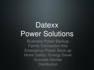 Datexx Power Arrangements