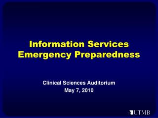 Data Administrations Crisis Readiness