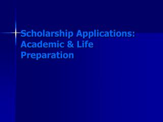 Grant Applications: Scholarly and Life Arrangement