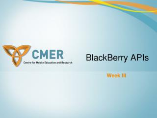 BlackBerry APIs