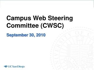 Grounds Web Guiding Advisory group (CWSC)