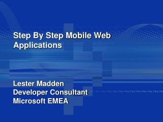 Orderly Versatile Web Applications