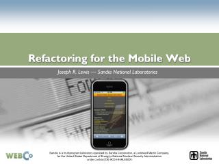 Refactoring for the Portable Web