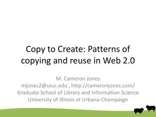 Duplicate to Make: Examples of replicating and reuse in Web 2.0