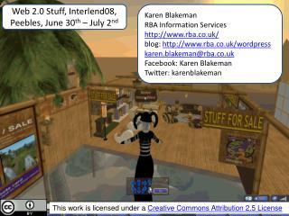 Web 2.0 Stuff, Interlend08, Peebles, June 30 th