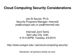Distributed computing Security Contemplations