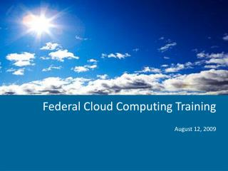 Government Distributed computing Preparing