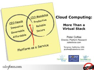 Distributed computing: More Than a Virtual Stack Diminish Espresso Executive, Stage Research salesforce Torrance, Califo