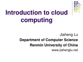 Prologue to distributed computing