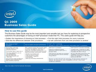 Q1 2009 Business Deals Guide