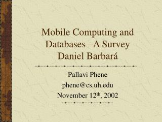 Portable Figuring and Databases