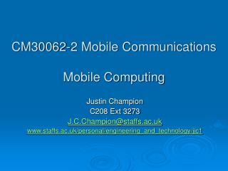 CM30062-2 Versatile Correspondences Portable Processing