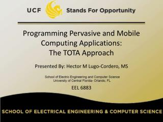 Programming Pervasive and Versatile Processing Applications: The TOTA Approach