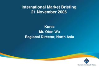 Global Business sector Instructions 21 November 2006