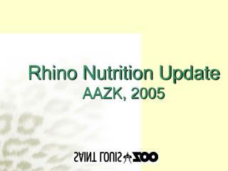 Rhino Sustenance Overhaul AAZK, 2005
