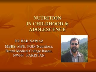 Nourishment IN Youth and Youthfulness