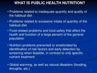 WHAT IS General Wellbeing Nourishment? Issues identified with lacking amount and nature of the periodic eating routine