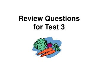 Audit Questions for Test 3
