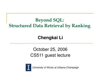 Past SQL: Organized Information Recovery by Positioning
