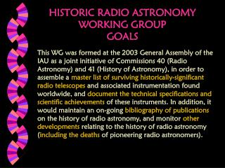 Memorable RADIO Stargazing WORKING Gathering Objectives