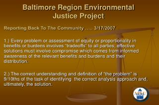 Baltimore Area Ecological Equity Venture