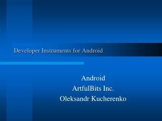 Engineer Instruments for Android