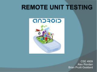 Remote Unit Testing