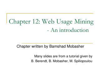 Section 12: Web Use Mining - A presentation