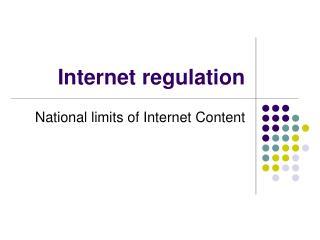 Web regulation