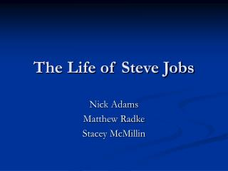 The Life of Steve Occupations