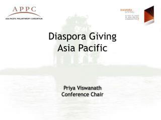 Diaspora Giving Asia Pacific Priya Viswanath Gathering Seat