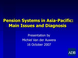 Benefits Frameworks in Asia-Pacific: Principle Issues and Analysis
