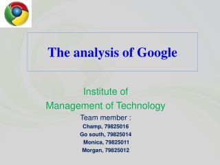 The examination of Google