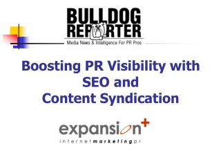 Boosting PR Perceivability with SEO and Substance Syndication