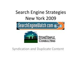 Web search tool Methodologies New York 2009