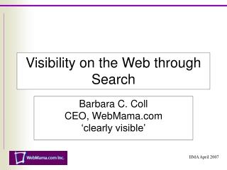 Perceivability on the Web through Pursuit