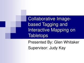 Shared Picture construct Labeling and Intuitive Mapping with respect to Tabletops