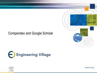 Compendex and Google Researcher