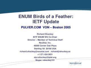 ENUM Diagram Able ITU Joint Workshop May 21-22, 2000 Bandar Seri Begawan, Brunei Darussalam
