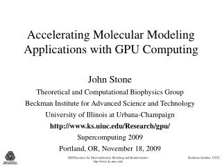Quickening Atomic Displaying Applications with GPU Figuring