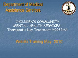 Branch of Medicinal Help Administrations