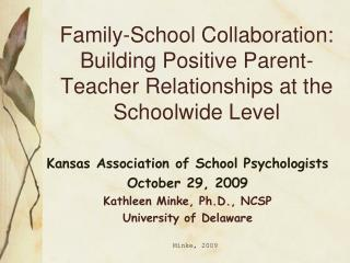 Family-School Joint effort: Building Positive Guardian Educator Connections at the Schoolwide Level