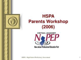 HSPA Folks Workshop (2006)