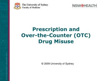 Solution and Over-the-Counter (OTC) Drug Abuse