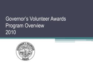 Senator's Volunteer Recompenses Program Review 2010